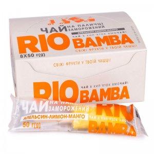 напиток замороженный натуральный чай апельсин-лимон-манго rio bamba 50г