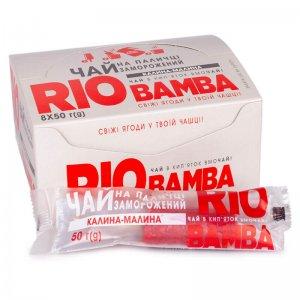 напиток замороженный натуральный чай калина-малина rio bamba 50г