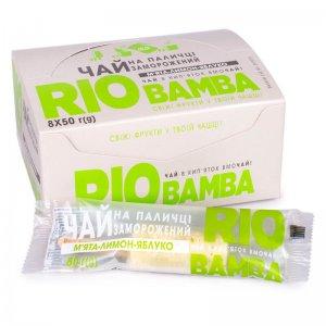 напиток замороженный натуральный чай мята-лимон-яблоко rio bamba 50г