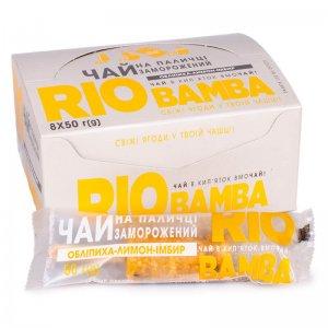 напиток замороженный натуральный чай облепиха-лимон-имбирь rio bamba 50г