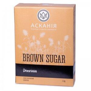 сахар коричневый demerara асканія-пак 1кг