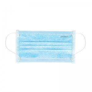 маски медицинские голубо-белые 3 слоя sms protect