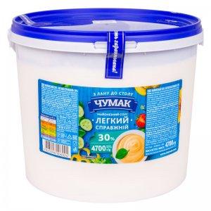 майонезный соус легкий справжній 30% тм чумак 4700г