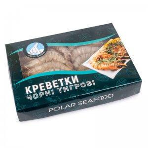 креветки черные тигровые в панцире с головой сырые penaeus monodon 21-30 polar seafood 1кг (1)