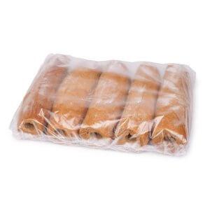 Багет для хот-дога солодовый (с отверстием) XXL ТМ Віденські Булочки 95г (50шт.) - фото 1